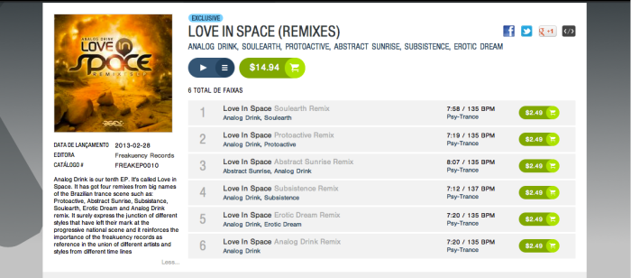 Analog Drink - Love in Space (Abstract Sunrise RMX)